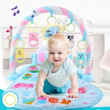 3 in1Baby Play Mat Rug Baby Gym Tapis Puzzles infant cartoon Cradle toys play mat Crawling Music Game Developing