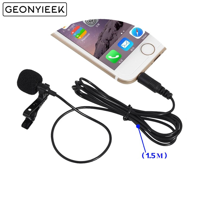 2 Pcs 3.5mm Jack Clip-on Lapel Microphones Lavalier Tie Mikrofon Microfono Mic for Mobile Phone For Speaking Lectures Wholesale(China)