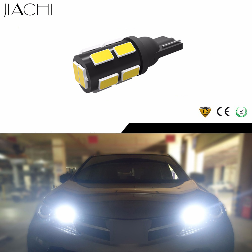 JIACHI 10 x Factory Direct Sell T10 Auto LED Car Bulbs Clearance Light T10 W5W 194 168 LED 5730SMD 12Chips Super Bright White