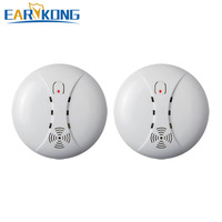 Free Shipping Hot Selling New 433 Wireless Smoke Detector Fire Alarm Sensor For Indoor Home Safety