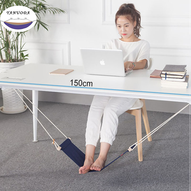 Creative Foot Hammock Lazy Artifacts Desk Study Rest Foot Put Feet Swing Put Foot Pad waugh e put out more flags