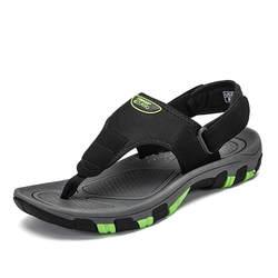 Дышащие пляжные сандалии Летняя обувь для мужчин наружные горки повседневное сланцы Нескользящие мужские сабо для отдыха мюли Zapatos De Hombre