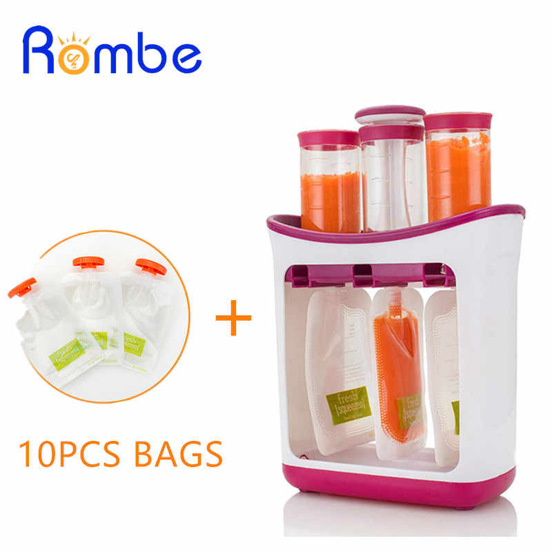 Infant Baby Food Maker Squeeze Juice Station Fresh Fruit Juice Containers Storage Supplies Baby Feeding Maker Organic Food