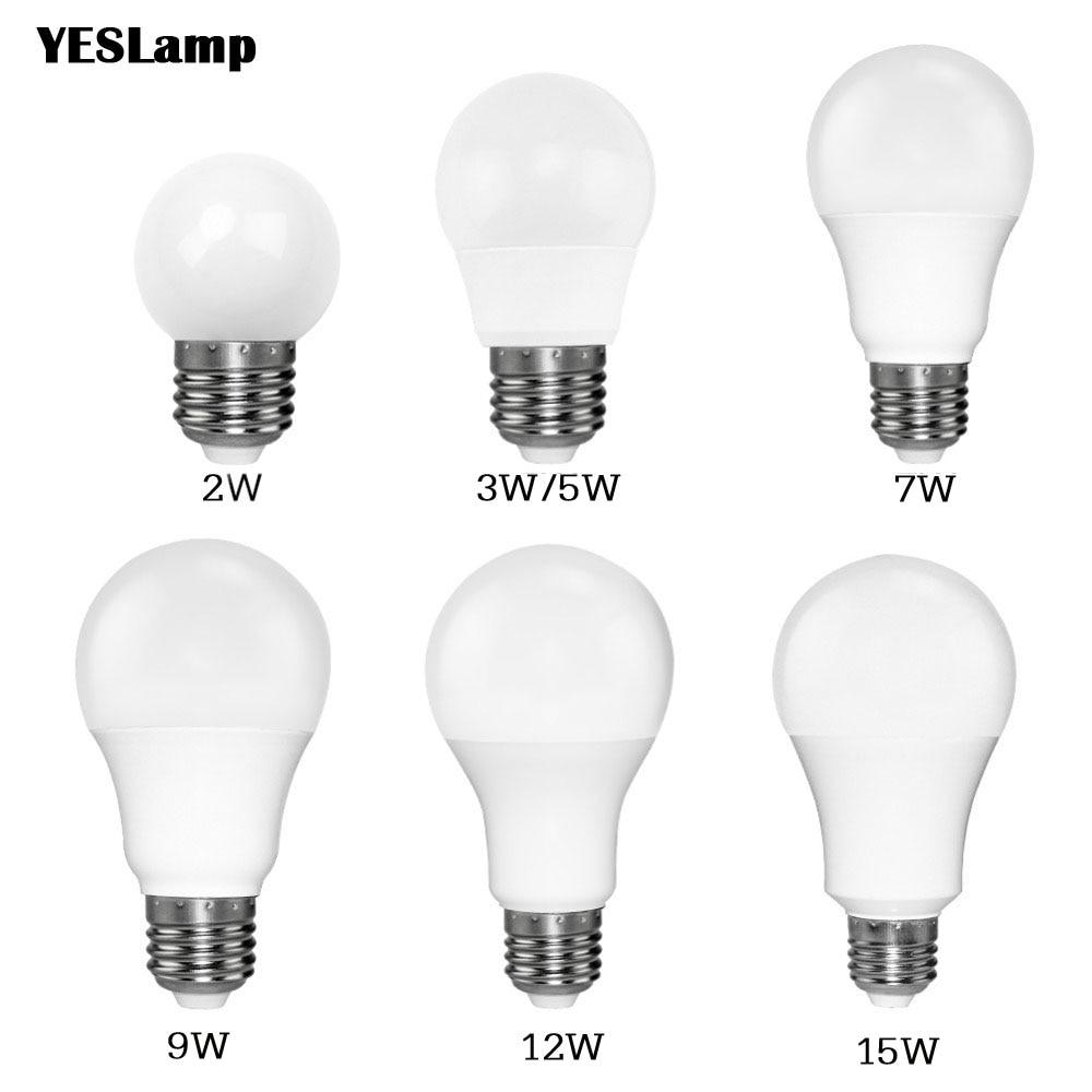 Led Bulb E27 E14 SMD 2835 3W 5W 9W Bombillas Lamp Cfl Ampoule 220V Spotlight Light Lampada Diode Home Decor Energy Saving