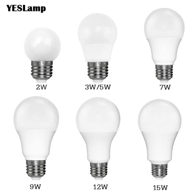 Led Bulb E27 E14 Smd 2835 3w 5w 9w Bombillas Lamp Cfl