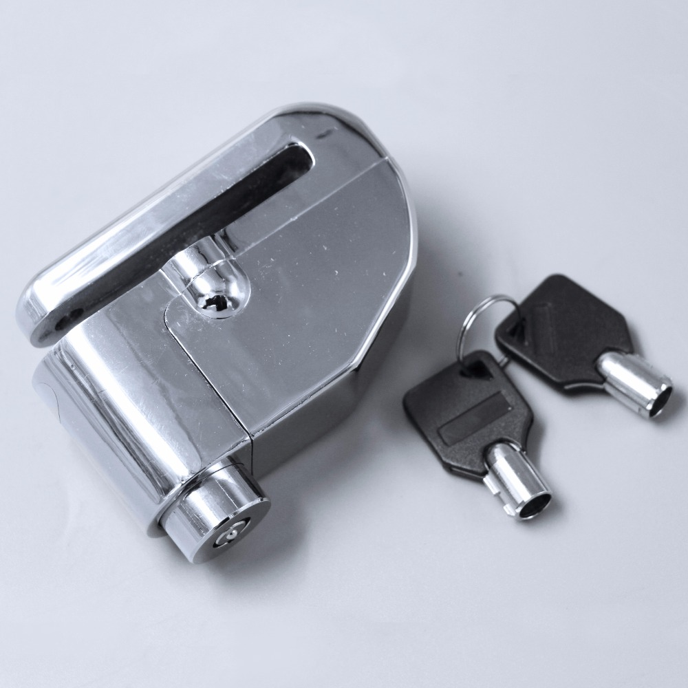 New Design Motorcycle Security Disk Ilver Wheel Disc Lock  Design Disc Brakes Rotor Lock Security Bicycle Locks