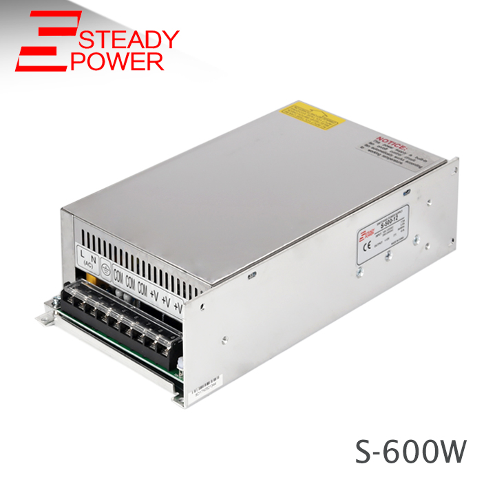 High voltage dc 24 volt 600w led switching power supply /24v 25a 600w ac dc power supply / 24v smps for led lighting S-600-24 s 150 24 ac dc 220 24v dc power suply led smps ce rohs approval led driver strip light switch power supply 24v 6 25a 150w