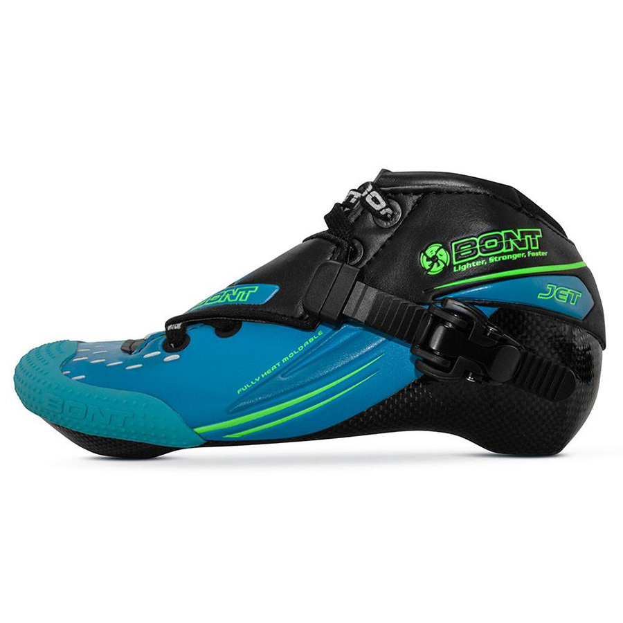100% Original Bont Jet 2PT 195mm Speed Inline Skate Heatmoldable Carbon Fiber Boot Competition Racing Skating Boot Patines Shoes