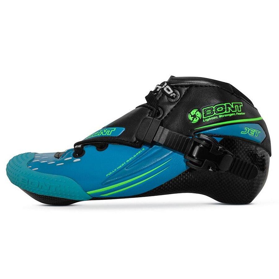 100% Original Jet Bont 2PT 195 milímetros Patins Inline Velocidade Patines Heatmoldable Bota Bota De Fibra De Carbono Corridas de Competição de Patinação Sapatos