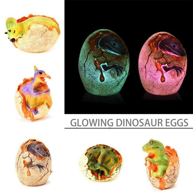 Dragon ball 1 pc LED Light Up Simulado Brinquedos Ovo De Dinossauro Modelo Ornamentos Presentes Coleção brinquedos para crianças presentes de aniversário