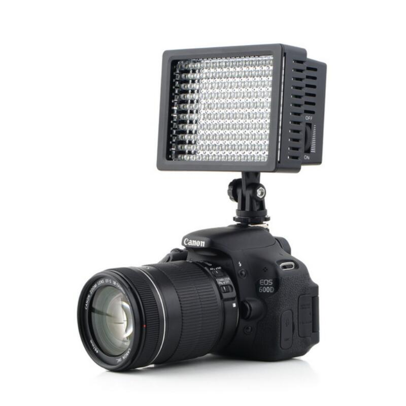 Photography 160 LED Studio Video Light Shooting Lighting For Canon NIKON SONY Video Camcorder DV Lamp Light Camera 12W 1280LM wansen w160led 12w 1280lm 5600k 3200k 160 led camera video light for canon nikon sony