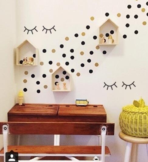 Decorate Wall Opposite Bed : Aliexpress buy cute eyelash pattern kid s bedroom