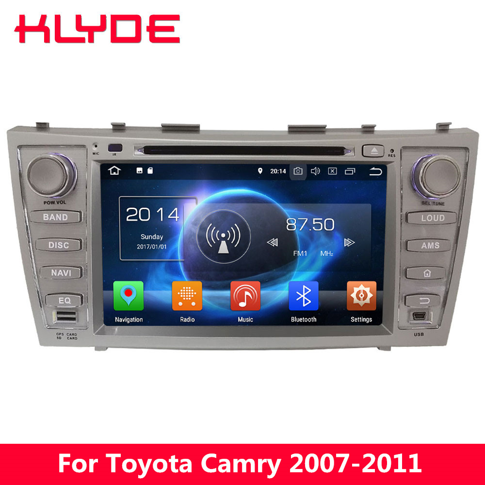 KLYDE 4G Octa Core 4GB RAM 32GB ROM Android 8.0 7.1 6 Car DVD Multimedia Player Radio For Toyota Camry 2007 2008 2009 2010 2011 elephone p9000 android 6 0 4g phablet mtk6755 octa core 2 0ghz 5 5 дюймовый 4gb ram 32gb rom 13 0mp основная камера type c