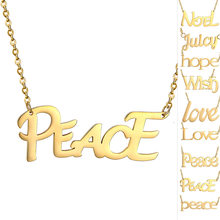 stainless steel Necklace Thin Chain Tiny Hand Stamp Custom Name Initial Letter Hope Necklace Delicate Sister Gift(China)
