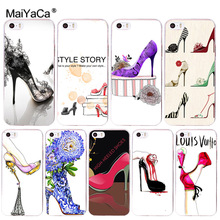 MaiYaCa high-heeled shoes New Arrival Fashion phone case cover for Apple iPhone 8 7 6 6S Plus X 5 5S SE 5C 4 4S Mobile Cover все цены