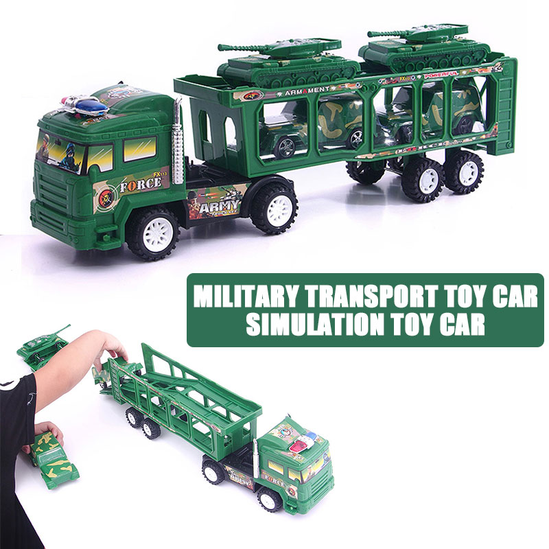 Забавная модель инженерный транспорт подрывной грузовик интеллект баки для автомобиля для инерционная прицеп Прямая