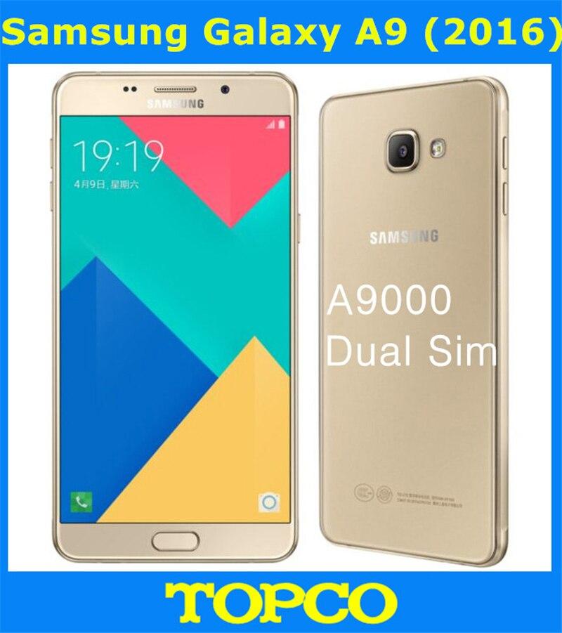 """Цена за Samsung Galaxy A9 2016 Duos Оригинальный Разблокирована Android Мобильный Телефон 4 Г LTE A9000 Octa Ядро 6.0 """"13MP RAM 3 ГБ ROM 32 ГБ"""