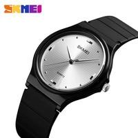 SKMEI кварцевые часы модные Повседневное Для женщин Для мужчин новые часы 30 м Личность Творческая PU качество ремень Relogio Feminino 1421