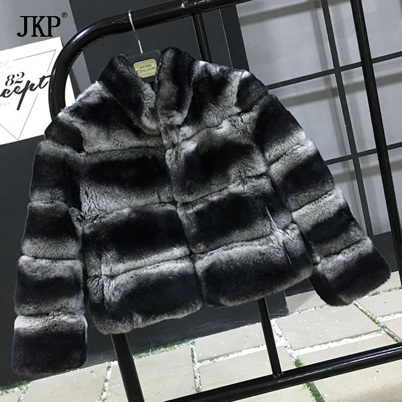 2018 Winter Kids Real Rex Rabbit Fur Coat Jackets Children's Rabbit fur Outerwear Baby Thicken Warm Coat For Boy Girl new russia fur hat winter boy girl real rex rabbit fur hat children warm kids fur hat women ear bunny fur hat cap