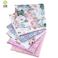 Shuanshuo New Floral Series Twill Bomull Tyg, Patchwork Cloth, DIY Syning Quilting Fat Quarters Material För Baby & Chili 6st / lot