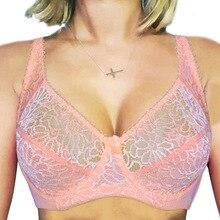 حمالات الصدر كبيرة الحجم للنساء الملابس الداخلية الدانتيل مريحة غير المبطنة Bralette Underwire BH مثير شفافة حمالات الصدر الإناث الملابس الداخلية