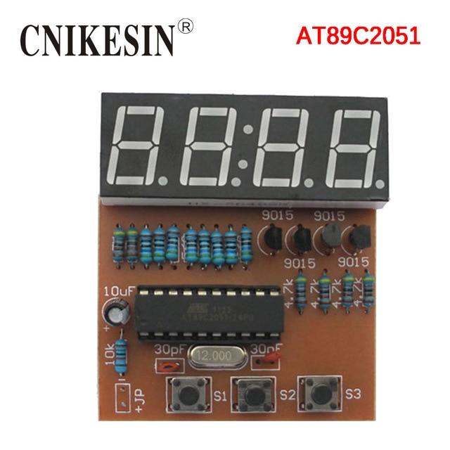 cnikesin diy kit 4 digit digital clock electronic production kit