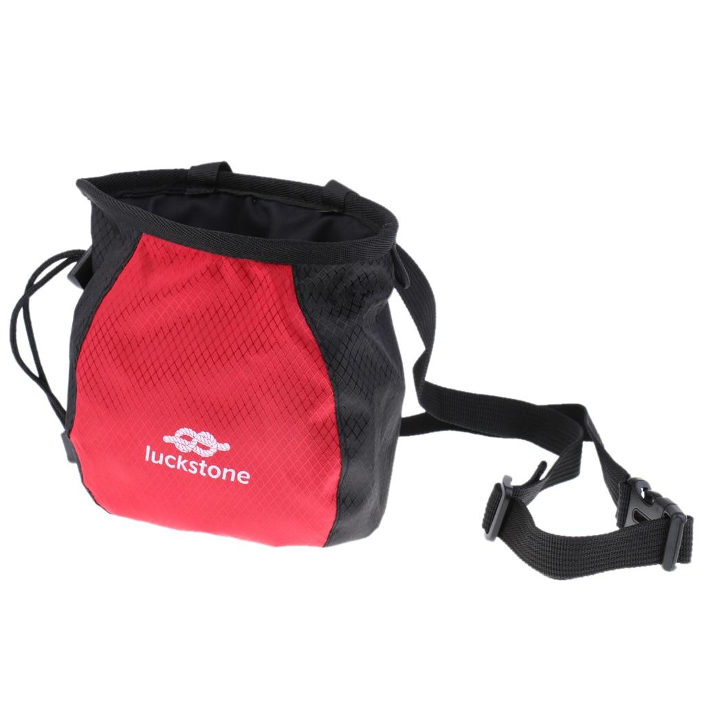 Chalk Bag No Leak Rock Climbing Strawstring Bag Drawstring Magnesia Sack With Adjustable Belt For Gymnastics Bouldering
