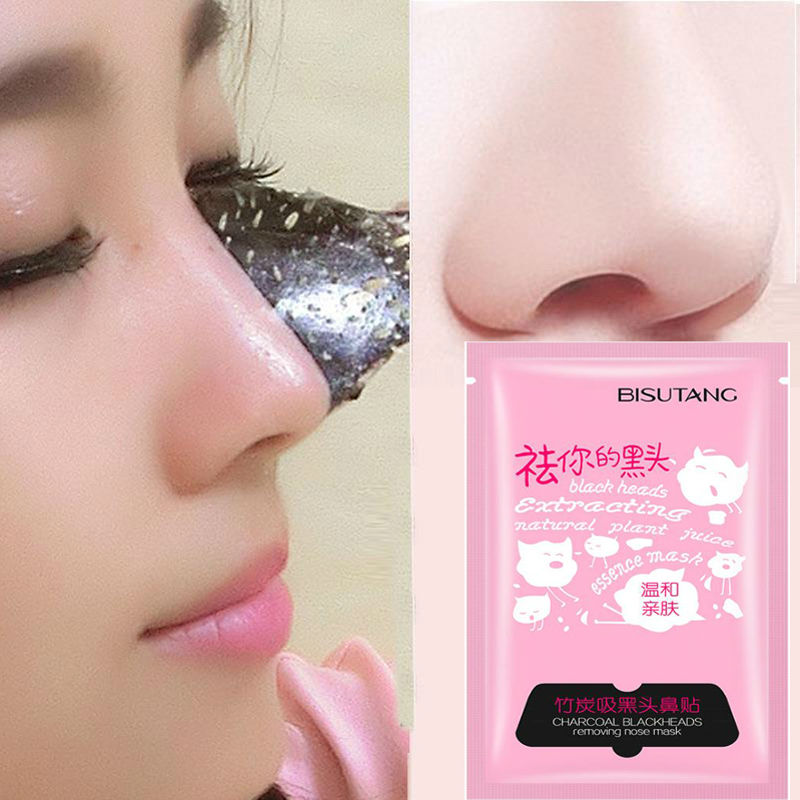 Bamboo Charcoal Acne Mask Oily Skin: Bamboo Charcoal Mask Nose Pad Suction Blackmask Face
