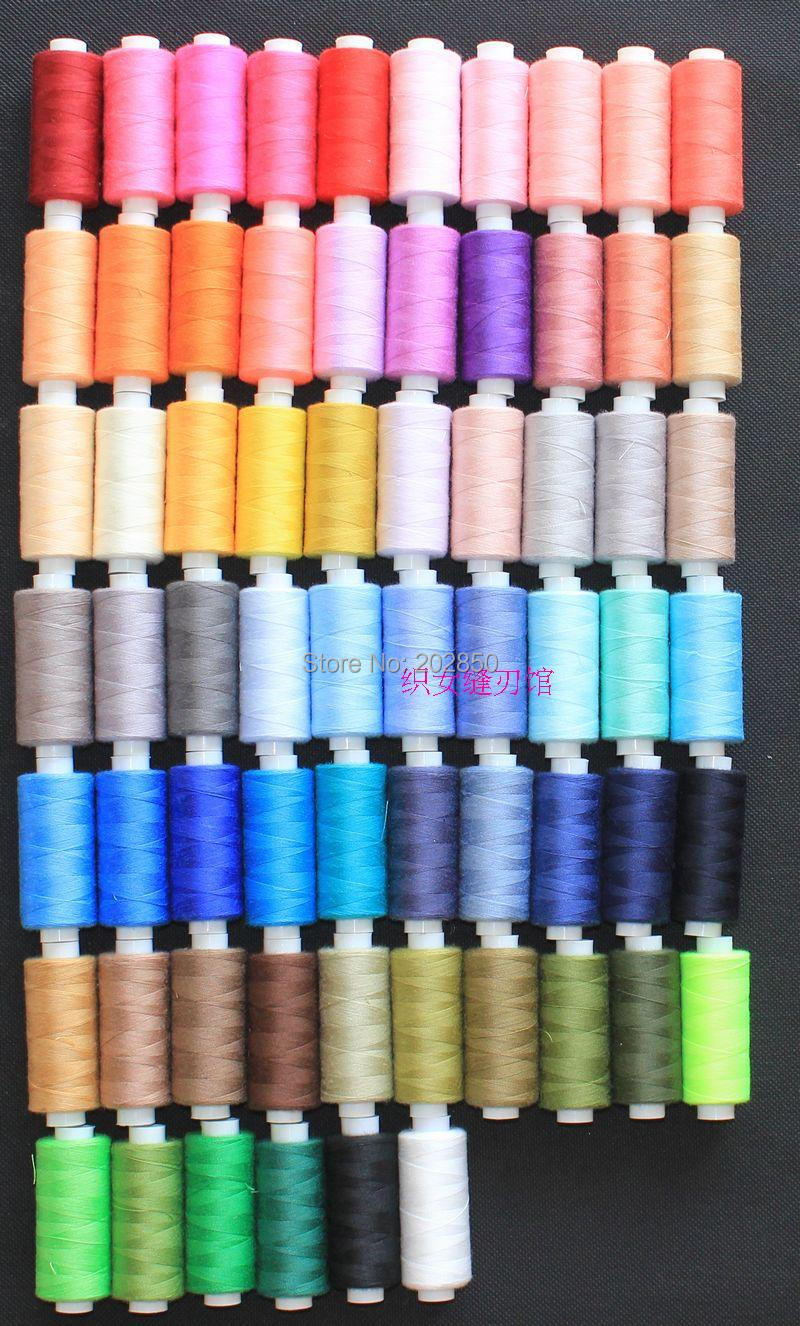 Hand Sewing Thread Sewing Machine Polyester Threads 40S 2 66 Different Colours Spools Lot About 400