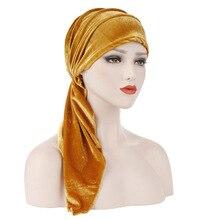Korean Woollen Women Hat Double Ponytails Muslim Hat Head Beanie Fashion Skullies Lady India Hat Fashion Cancer Chemo Hats цена в Москве и Питере