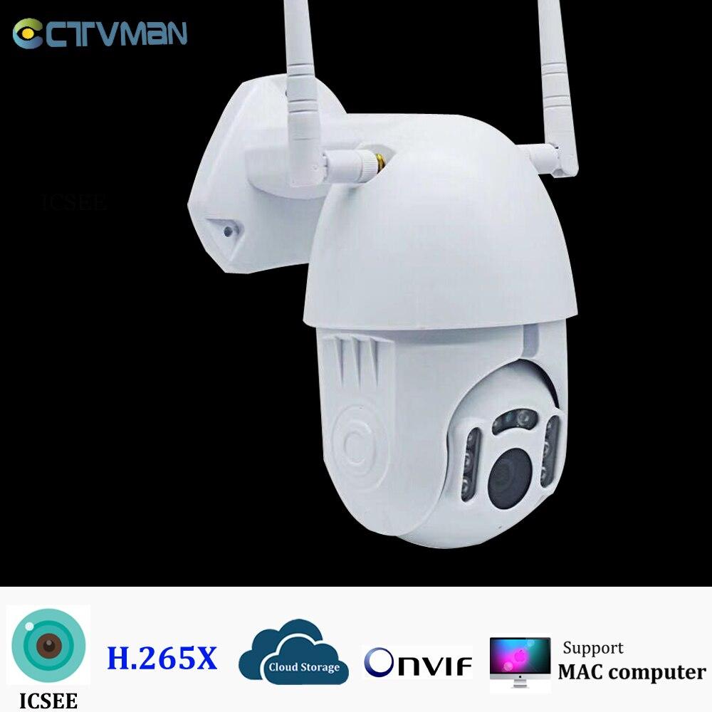 Güvenlik ve Koruma'ten Gözetim Kameraları'de CTVMAN 1080P PTZ Kamera WIFI Hız Dome Kablosuz CCTV Güvenlik IP Kamera ONVIF H.265X Ev Gözetim P2P Kameralar ICSEE title=