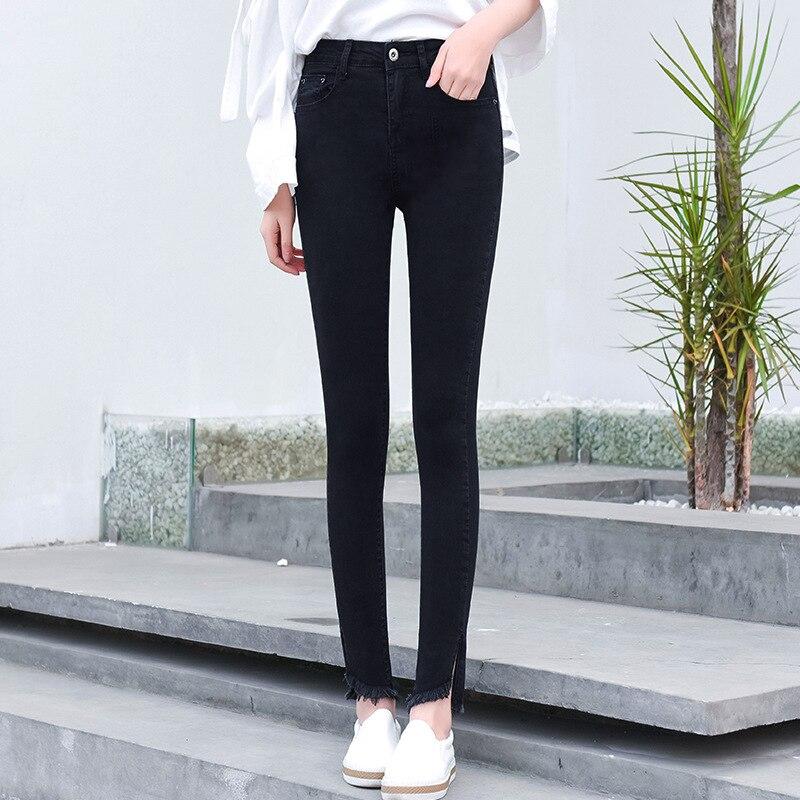 DN fleurs broderie jeans mode slim brodé 2NZ101-105 mignon mickey patchwork maman jeans personnalité denim pantalon plus