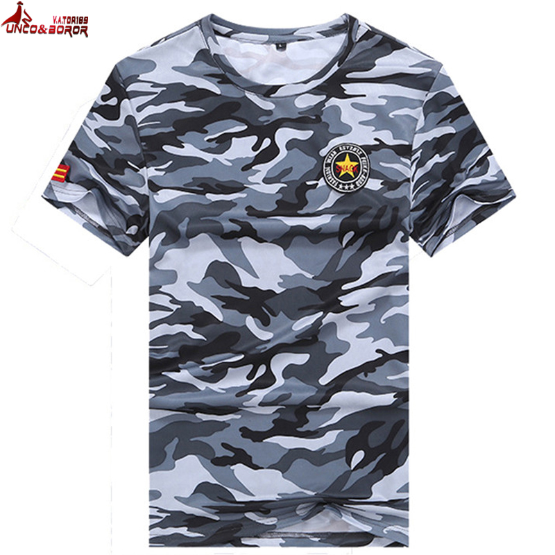 Big size 6XL,7XL,8XL men Summer Military Camouflage Quick-drying Breathable army soldier Tops&tees <font><b>t</b></font> <font><b>shirt</b></font> Men <font><b>T</b></font>-<font><b>shirt</b></font> image