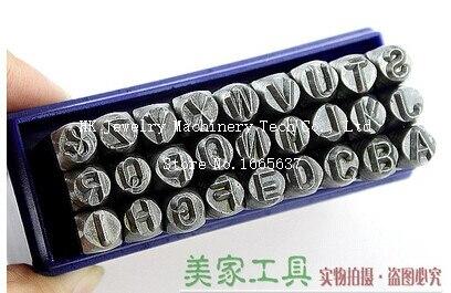 27 pièces 8 MM Majuscule A-Z Poinçon Timbres en acier outil de poinçon Bijoux Timbre