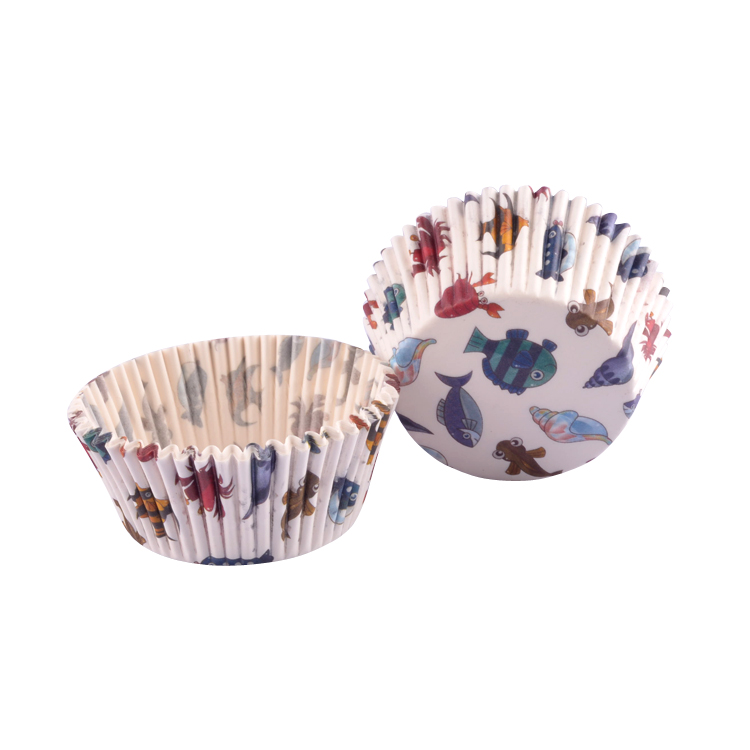 BAKEST 1000 pcs per lot 4.5 inch Fish Pattern Round <font><b>Paper</b></font> Cake <font><b>Cup</b></font> Liners <font><b>Baking</b></font> Cupcake <font><b>cases</b></font> Muffin Cake Tray Mini <font><b>Cups</b></font>