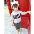 2016 autumn and winter new children 's clothing boys and girls plus velvet thicken sweater letters printed shirt