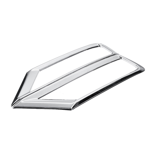 Image 3 - 2 x Car Front Fog Light Lamp Cover Trim ABS Chrome Decoration Sticker Car Styling for Volkswagen VW Tiguan Mk2 2016 2017 2018