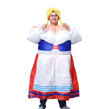 Criada alemana inflable traje Purim fiesta de Halloween traje de las  mujeres Cosplay inflable de prendas de vestir vestido de lujo para adultos 6ad88aa9aff