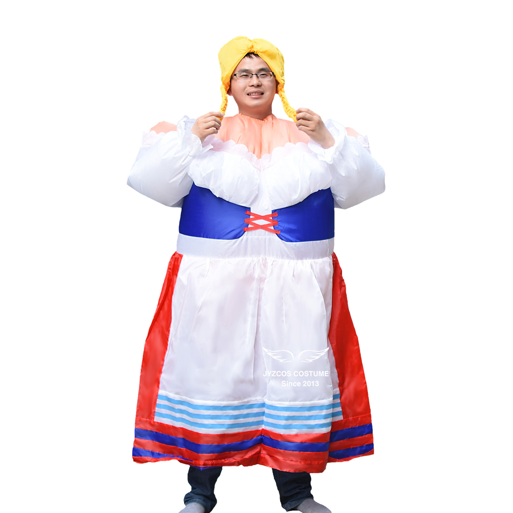 German Maid Inflatable Costume Purim Halloween Party Costume Women Cosplay Inflatable Garment Fancy Dress for Adult