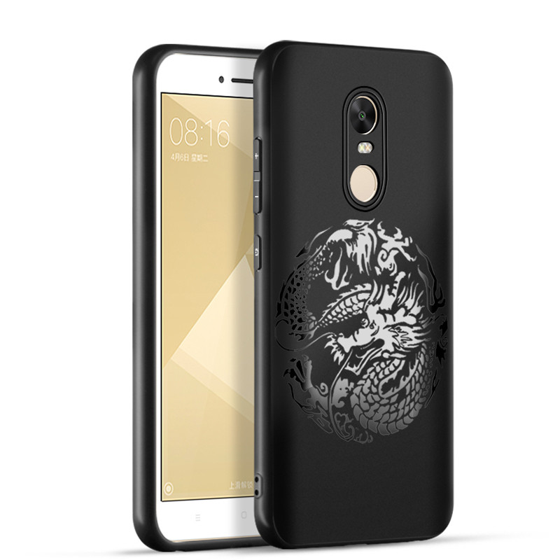 luxury Dragon&cloud painting for Xiaomi Redmi Note 4x Note 4 case Soft silicon chinese style back cover for Redmi note 4 note 4X