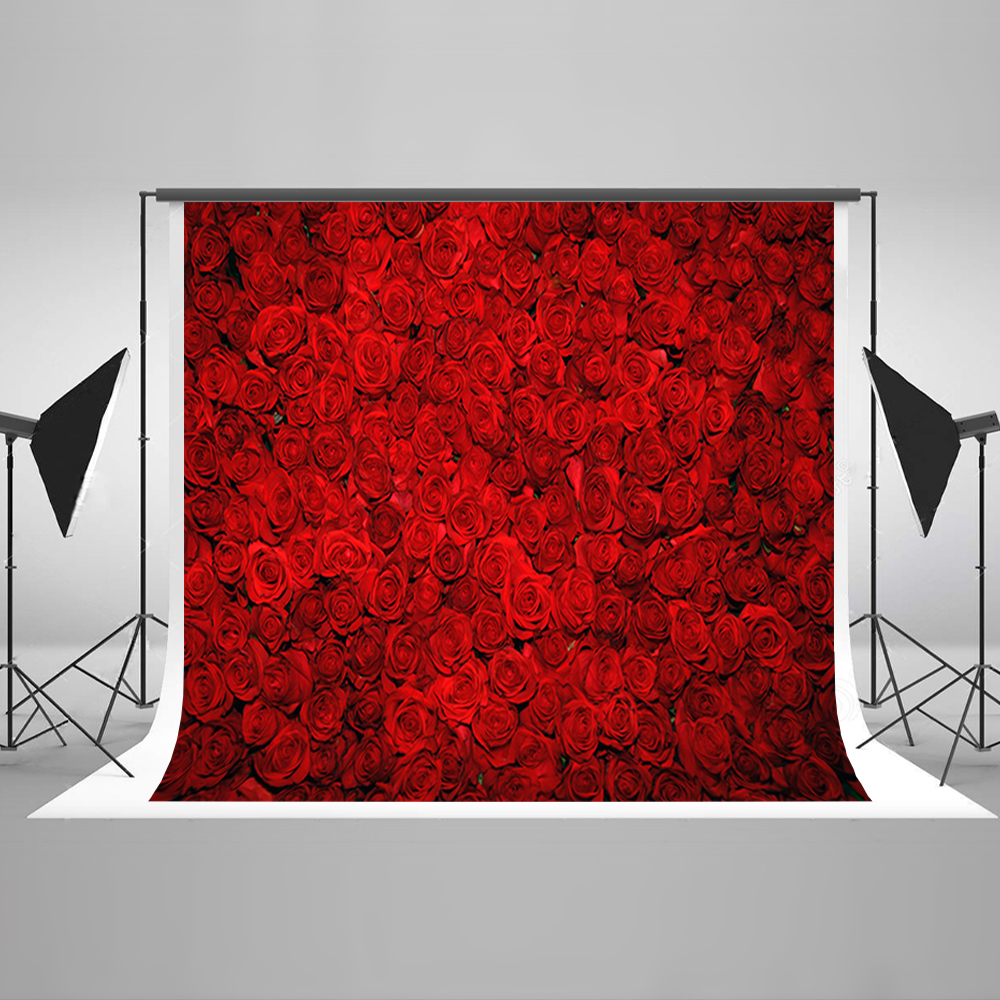Valentine's Day Photography Background Romantic Love Red Roses Computer Printing Backdrops  Background Photographic Studio 215 150cm backgroundsdrop withered roses photography backdropsvinyl photography backdrop 3310 lk valentine s day