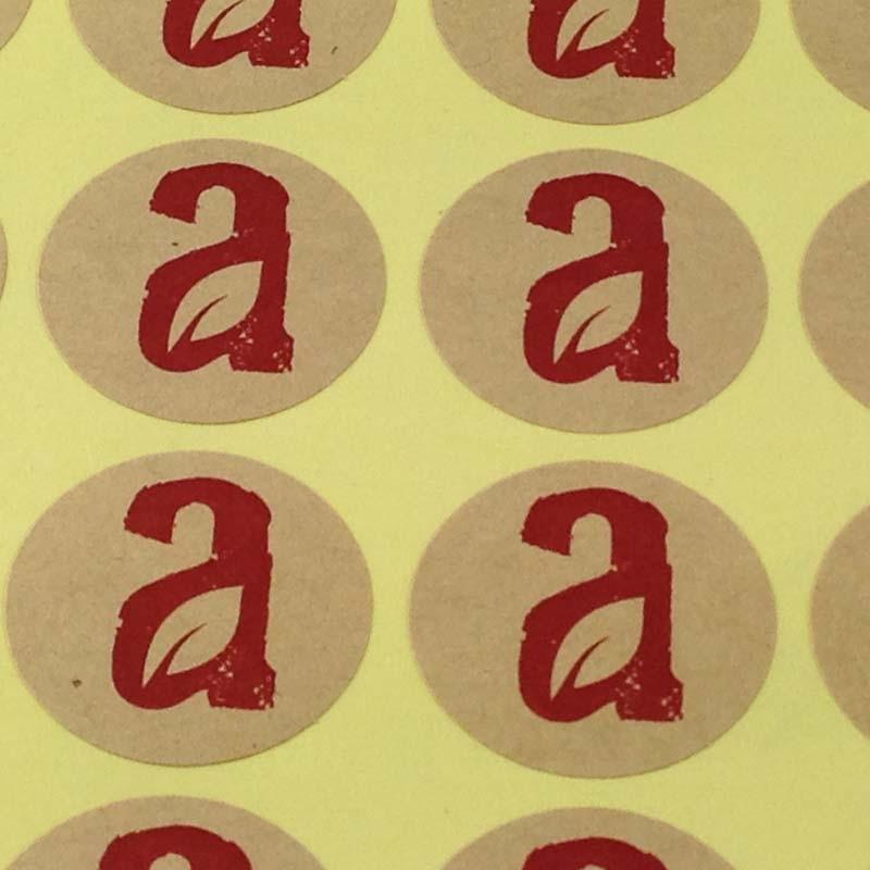 Diameter 4cm Custom Sticker Labels Custom logo Printing Customize Adhesive MOQ 1000PCS