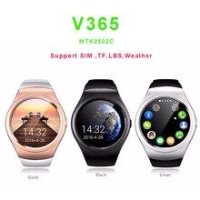 NEUE Männer Armbanduhr V365 Kreis Smart Uhr Schrittzähler Fitness Tracker LBS SIM TF Smartwatch für ios Android Smartphone