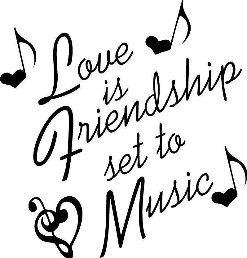 Cinta adalah persahabatan diatur untuk musik dekorasi