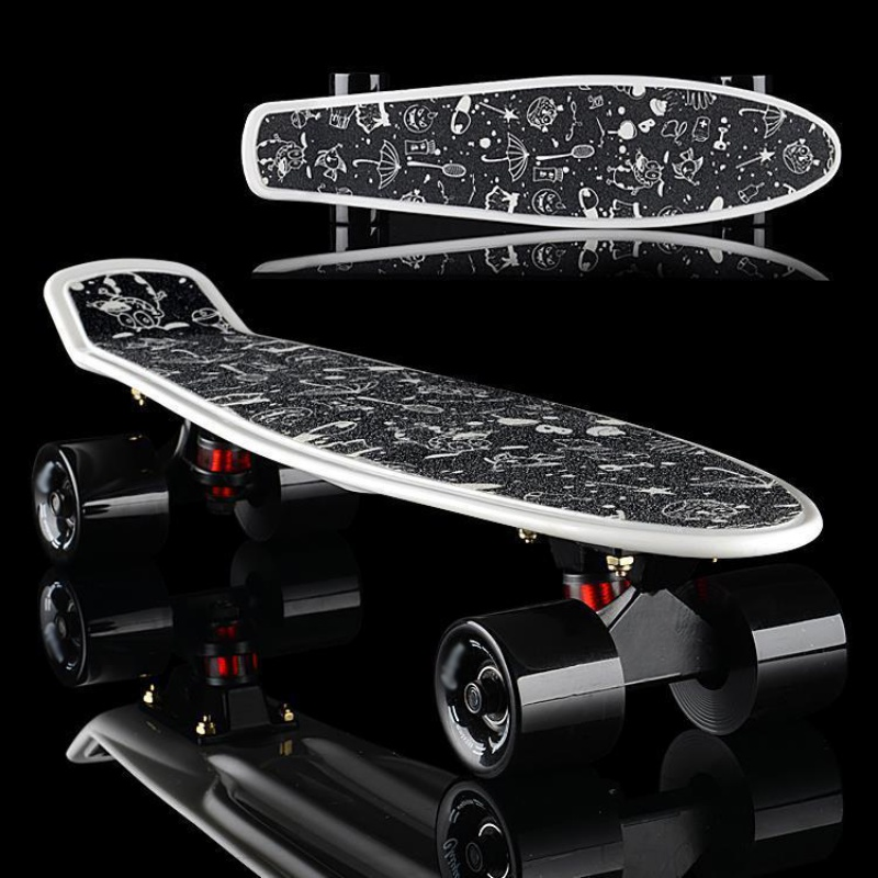 Anti-slip 22inch Board Sticker Skateboard Sticker Solid/Printed  Waterproof Adhesive Single Rocker Sandpaper For Penny Board