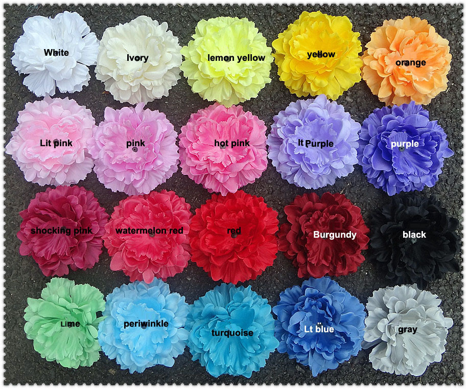 """Free shipping,Approx.5"""" 100pcs/lot,20colors Head-Single Soft Petal Peony Silk Flower Gorgeous,peonies in STOCK(FC04)"""