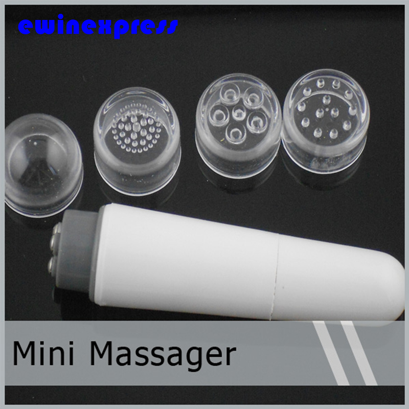 Portable Mini Relax Massager for Full Body Neck Scalp  Massaging Tool With 4 Different Massage Heads Xmas Gift excellent quality 2 rollers relax finger joints hand massager fingers massage tool random color