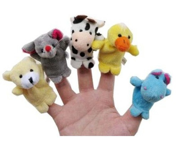 MOONBIFFY-10Pcs-Animal-Finger-Puppet-Plush-Toys-Cartoon-Biological-Child-Baby-Favor-Doll-Kids-Gifts-Free-shipping-Random-Color-3