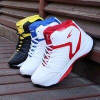 Luz dos homens De Alta-top Tênis de basquete dos homens de Amortecimento Tênis De Basquete Tênis Respirável Athletic Shoes Esporte Ao Ar Livre