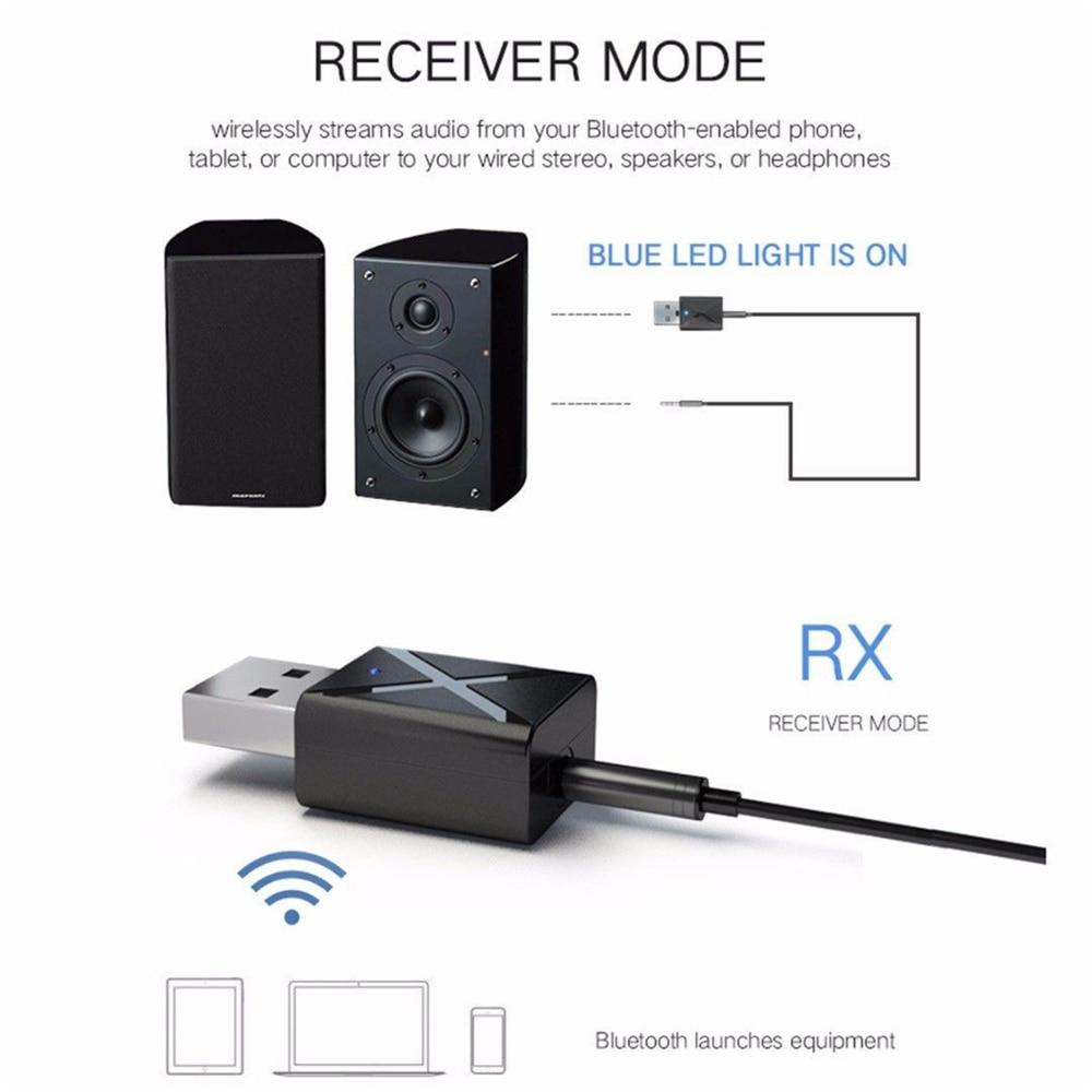 2 в 1 беспроводной USB Bluetooth 5,0 адаптер ключ Музыка Звук приемник адаптер Bluetooth передатчик для ПК ноутбук компьютер